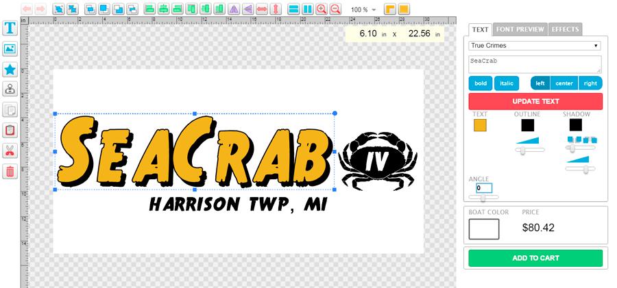 de ceti online lettering design software window lettering boat lettering registration numbers