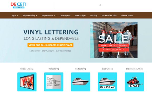online lettering store